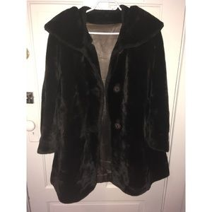Vintage Vegan Faux Fur Jacket